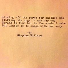 Stephen Millard original poem #641