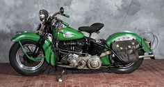 1940 Harley-Davidson EL from the Pierce Family Museum Collection.