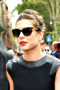 Charlotte Casiraghi looks stunning in black dress