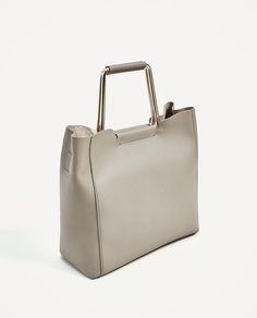 Image 1 of SOFT TOTE BAG WITH METALLIC HANDLES from Zara