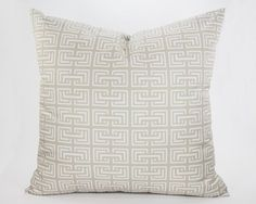 Square Link Pillow in Linen from Southern Sisters Home