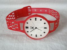 Cracker Jack Plastic Watch with Flicker Face.