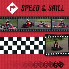 Go cart scrapbook layout created with My Digital Studio software from Stampin' Up!