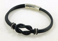 Celtic Bracelet Black Leather Bracelet Unisex Bracelet