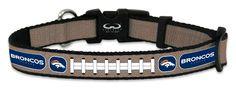 Denver Broncos Reflective Toy Football Collar