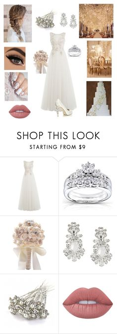 """""""Wedding day"""" by mackenzie-fp ❤ liked on Polyvore featuring Alberta Ferretti, HARRIET WILDE, Kobelli, Dolce&Gabbana and Lime Crime"""