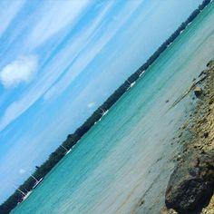 #view #ocean #sea #turquoise #bluesky #minimalist #minimalism #minimal #miami #clouds #textures #keybiscayne