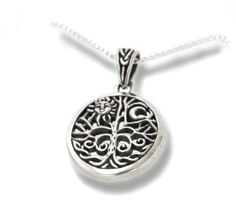 """Celtic Tree of Life Art Symbol with Sun and Moon Sterling Silver Pendant with 18"""" Necklace for $24.97"""