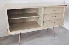vintage sideboard before and after