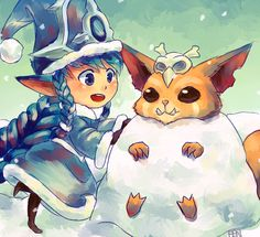 Lulu and Gnar League of Legends  gathered by http://how2win.pl