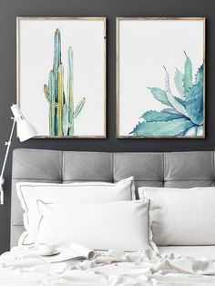 Watercolor Cactus Aloe Vera Set of 2 Prints, Watercolor Painting, Leaves Drawing, Plant Illustration, Green Blue Yellow Minimalist Wall Art, Succulents, Scandinavian Scandi Wall Art Modern Wall Decor, Summer Wall Art Important information for all prints: 1. The prices can be found