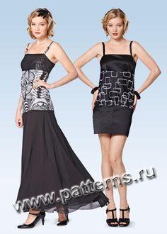 Скачать вечернее платье бурда моден с выкройками