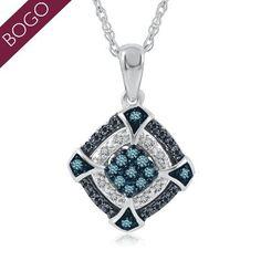 1/6 ct. tw. Blue, Black #crazypinlove #helzbergdiamonds