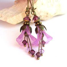 lucite flower earrings - Google Search