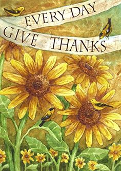 Sunflower Give Thanks Everyday House Flag Bird Decorative... http://www.amazon.com/dp/B00T6RZV2A/ref=cm_sw_r_pi_dp_b9qpxb0K2VAYF