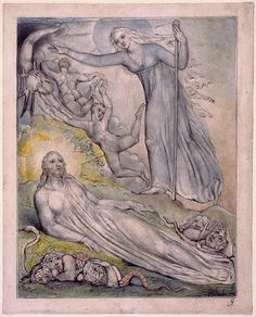 Illustration to Milton`s Comus  - William Blake