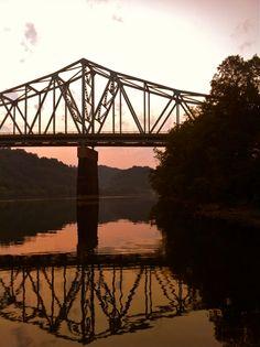 The Sewickley Bridge, Sewickley, Pennsylvania, United States (a bridge I've crossed many times)