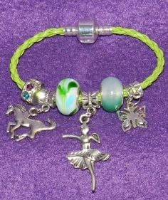 Braided Green Rope Charm Bracelet a perfect gift for any occassion