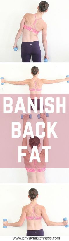 Moves to Banish Back Fat An AMAZING workout to sculpt all those sexy back muscles! Banish the back fat HERE!An AMAZING workout to sculpt all those sexy back muscles! Banish the back fat HERE! Fitness Workouts, Sport Fitness, Body Fitness, Fitness Diet, At Home Workouts, Health Fitness, Arm Workouts, Health Diet, Back Workout At Home