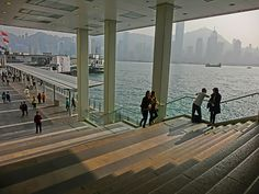 File:HK 尖沙咀 TST 海港城 Harbour City Ocean Terminal marble stone stairs view Victoria Harbour piers sunshine 15-Mar-2013.JPG