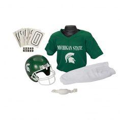 Michigan State Spartans NCAA Deluxe Helmet and Uniform Set (Medium)