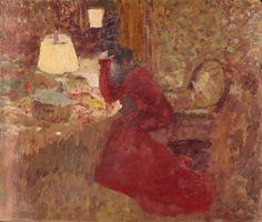 Woman in a Red Dress, or J. R. against a Window, 1899-1900 Edouard Vuillard (1868–1940)