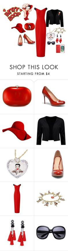 """""""Untitled #554"""" by ruffin777 ❤ liked on Polyvore featuring Betty Boop, Jeffrey Levinson, Cosmoparis, Boohoo, The Bradford Exchange and Amanda Wakeley"""