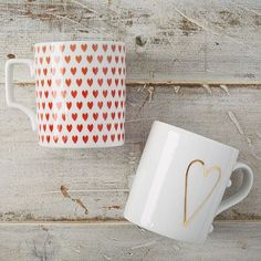 Pad Printed Mugs - Heart #westelm