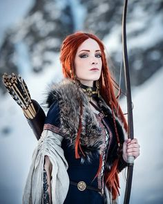 dangerous and mostly underestimated - Cosplay: Archeress – archer – hunter; dangerous and mostly underestimated … Cosplay: Archeres - Fantasy Girl, Fantasy Warrior, Female Viking Warrior, Female Warrior Costume, Fantasy Model, Fantasy Characters, Female Characters, Moda Medieval, Elfa