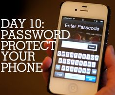 How to password protect your phone