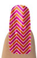 Jamberry Nail Shields, Nail Wraps - Buy Jamberry Nails - MAGENTA & ORANGE CHEVRON #JamberryNails #NailShields  #NailWraps