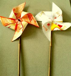 pentecost pinwheels made at St Oswald's school