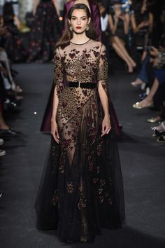 True romantic, Elie Saab Fall 2016 Couture Fashion Show - Camille Hurel