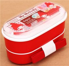 red My Melody bunny Bento Box Lunch Box from Japan 1
