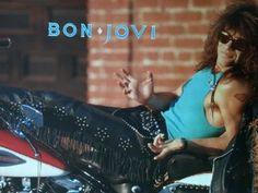 Bon Jovi Vintage Posters | Amazon.com - JON BON JOVI on a HARLEY DAVIDSON MOTORCYCLE Poster Mint ...