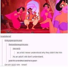 When they discovered exactly why Aladdin might have been getting some stick. | 31 Times Tumblr Had Important Realisations About Disney