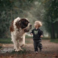 #stbernard #littlekidsandtheirbigdogsw