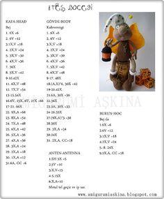Amigurumi Aşkına-Örgü Oyuncaklarım: Amigurumi Sevimli Ateş Böceği Tarifi- Amigurumi Free Pattern