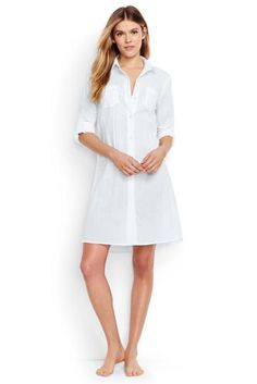 95e49e20095a5 Try our Women s Crinkle Cotton Boyfriend Shirtdress Cover-up at Lands  End.