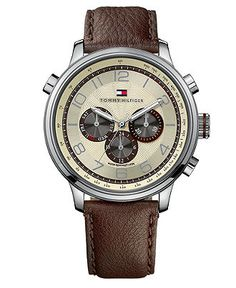 Tommy Hilfiger - Tyler Brown Leather Strap 1790767