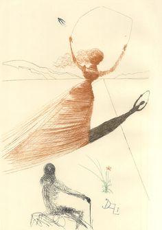 Alice in Wonderland illustrations by Salvador Dali