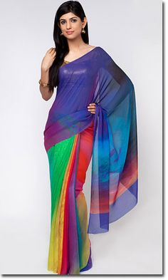 Satya Paul Sarees are characterized in unique prints