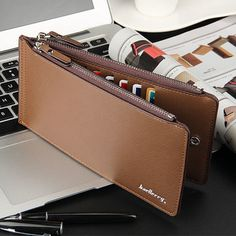 Men PU Leather Credit Card Holder Billfold Wallet Purse Checkbook Clutch