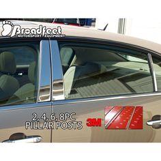 Broadfeet Motorsports Equipment Chrome 24x4 Car Accent Pillar Posts