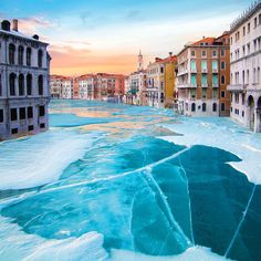 Frozen Venice 2016 Print Edition Happy to tell you that Frozen Venice is finally available as a limited print now on my website (link in bio). Every week for the next 4 weeks I will release a brand new artwork as a print