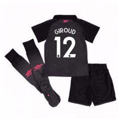 Arsenal Olivier Giroud 12 Dětské Alternativní dres komplet 17-18 Krátký Rukáv