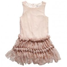 Charabia  Pink Shimmer Sleeveless Dress with Knotted Skirt