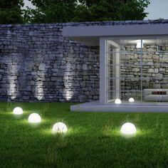 LED Solar-Halbkugel Ø 20 cm / Weiss 11896
