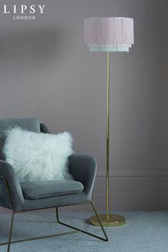Clarissa Floor Lamp – Gold - All For Decoration