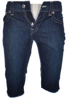 True Religion Mens Shorts Size 36 Straight Cut Off W Flap Lonestar NWT $169 #TrueReligion #Denim